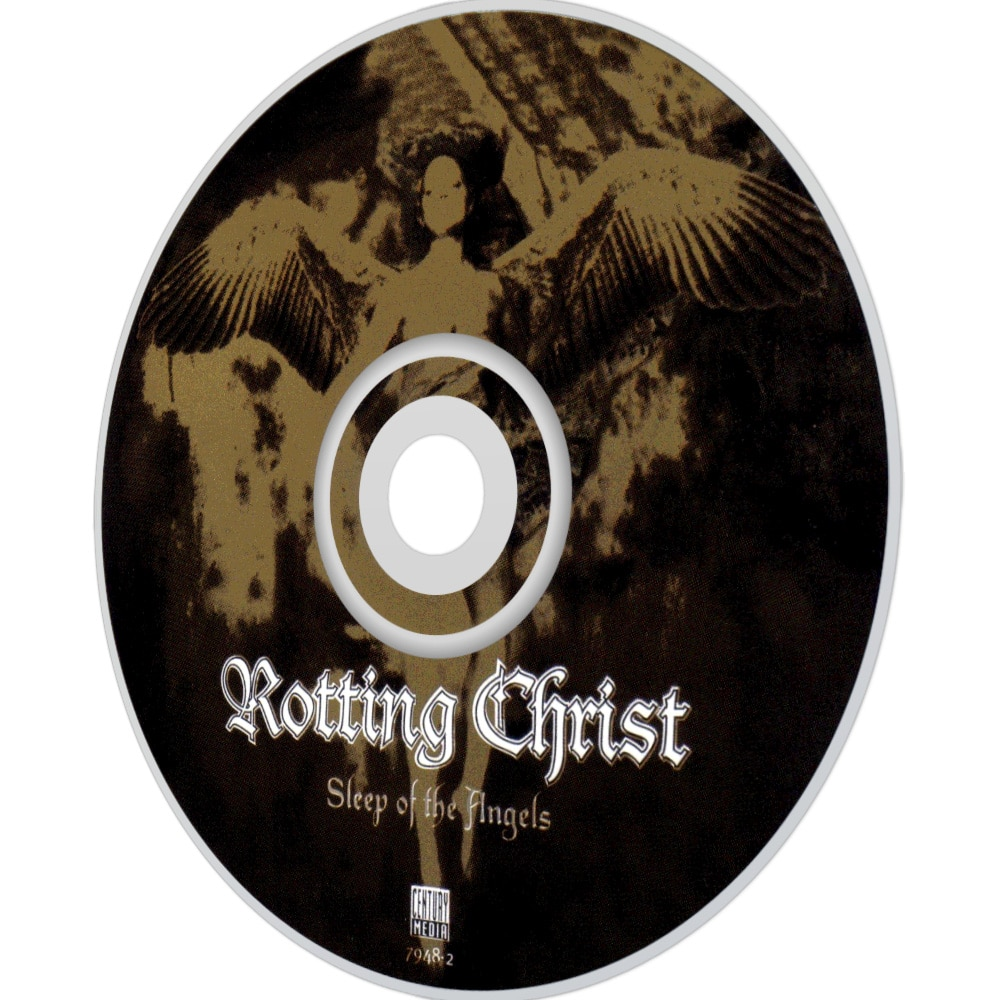 "Принт на диске альбома ""Sleep of the angels"" Rotting Christ (фото)"